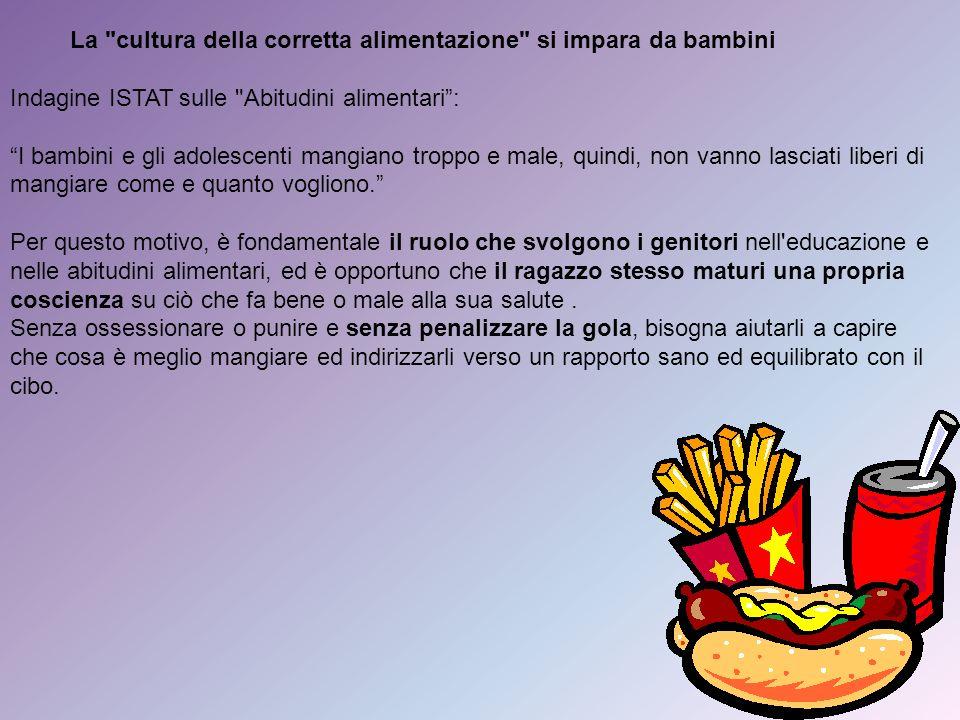 La cultura della corretta alimentazione si impara da bambini