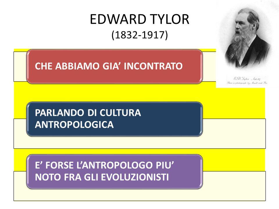 EDWARD TYLOR (1832-1917) CHE ABBIAMO GIA' INCONTRATO