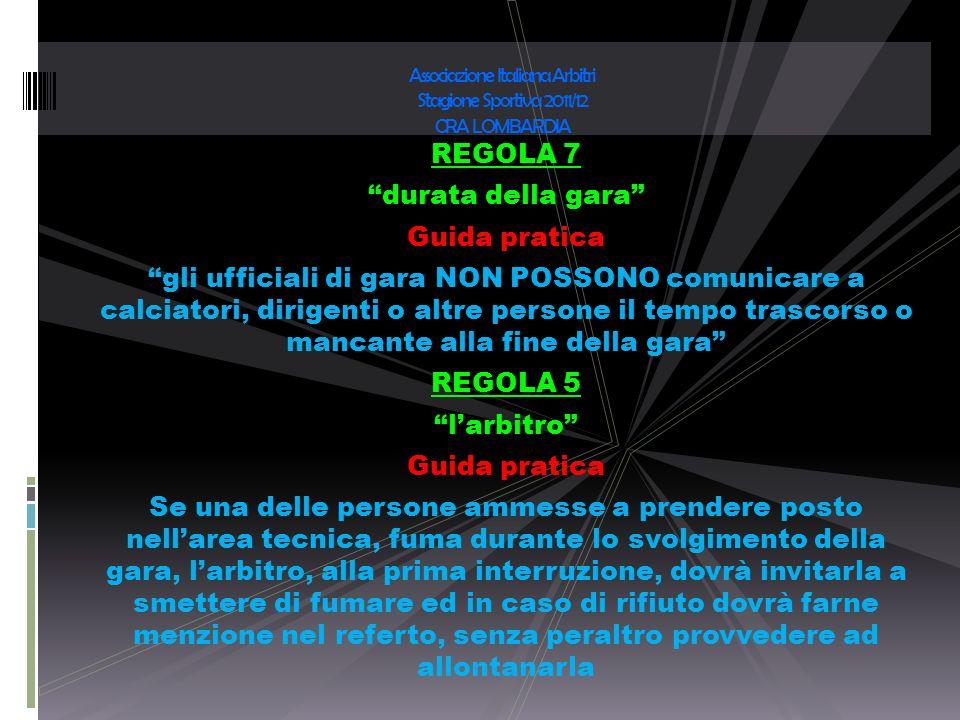 Associazione Italiana Arbitri Stagione Sportiva 2011/12 CRA LOMBARDIA