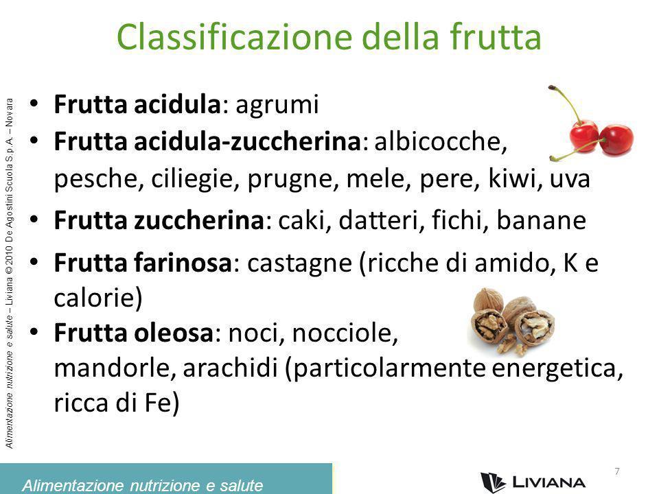 Classificazione della frutta