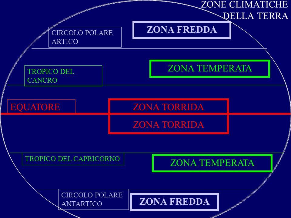 ZONE CLIMATICHE DELLA TERRA