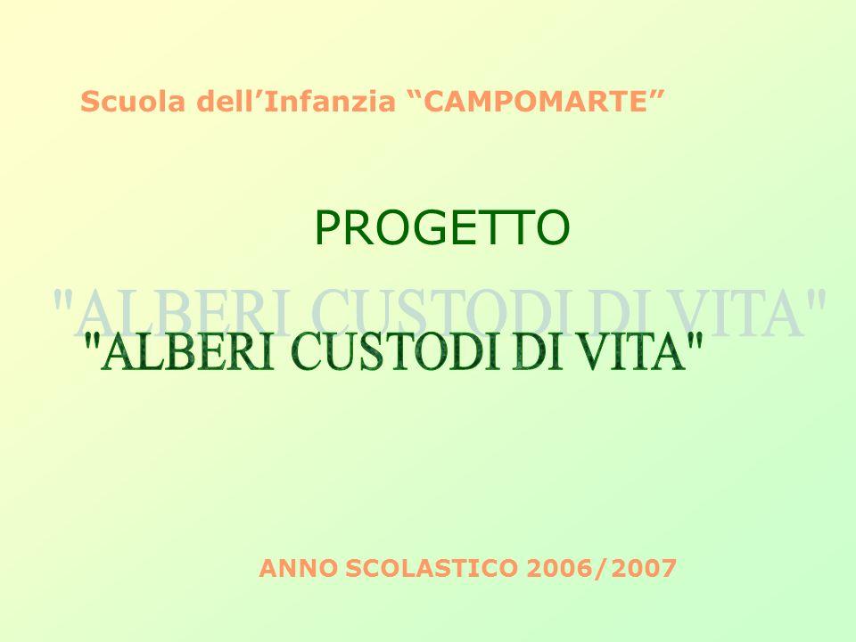 ALBERI CUSTODI DI VITA Scuola dell'Infanzia CAMPOMARTE PROGETTO
