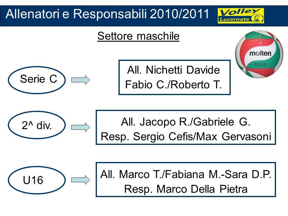 Allenatori e Responsabili 2010/2011
