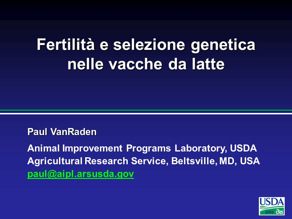 Fertilità e selezione genetica nelle vacche da latte