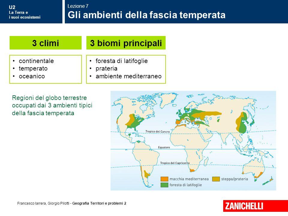 Gli ambienti della fascia temperata