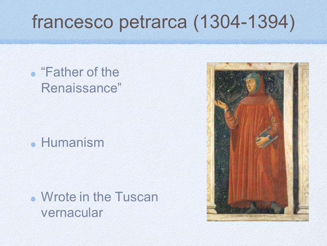 francesco petrarca (1304-1394)