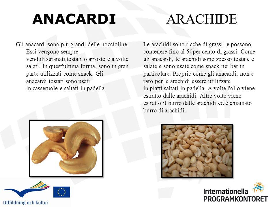 ANACARDI ARACHIDE.