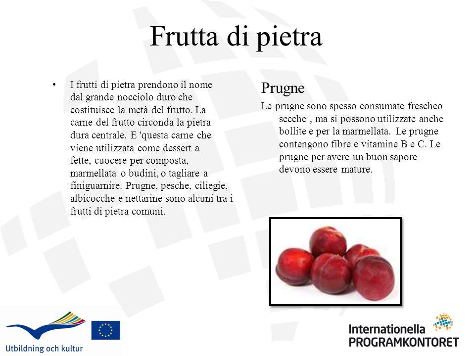 Frutta di pietra Prugne