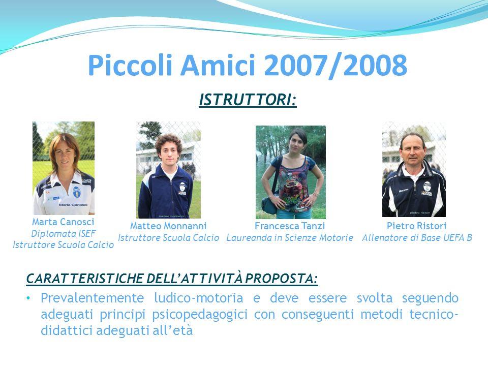 Piccoli Amici 2007/2008 ISTRUTTORI: