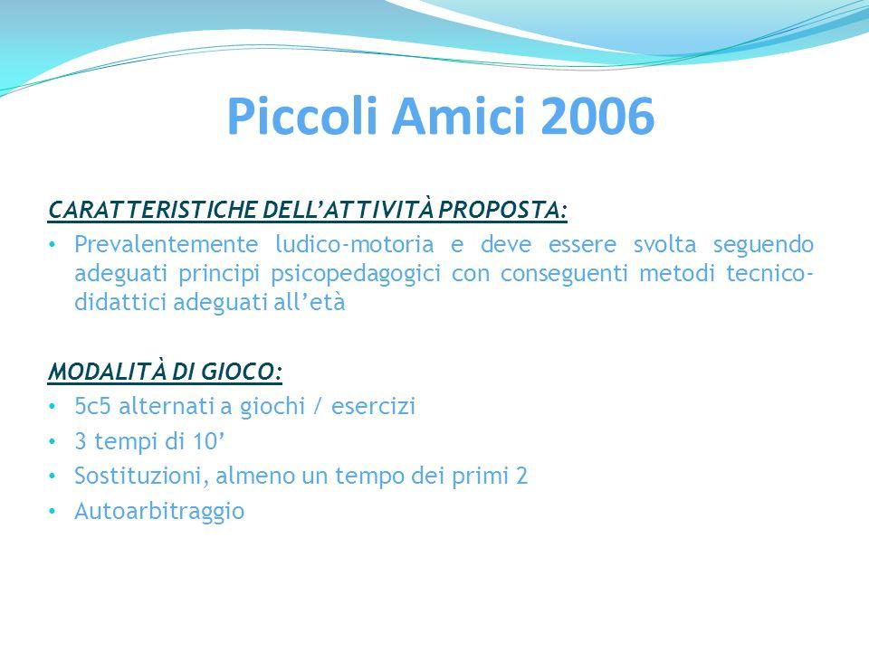 Piccoli Amici 2006 CARATTERISTICHE DELL'ATTIVITÀ PROPOSTA: