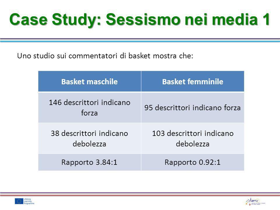 Case Study: Sessismo nei media 1