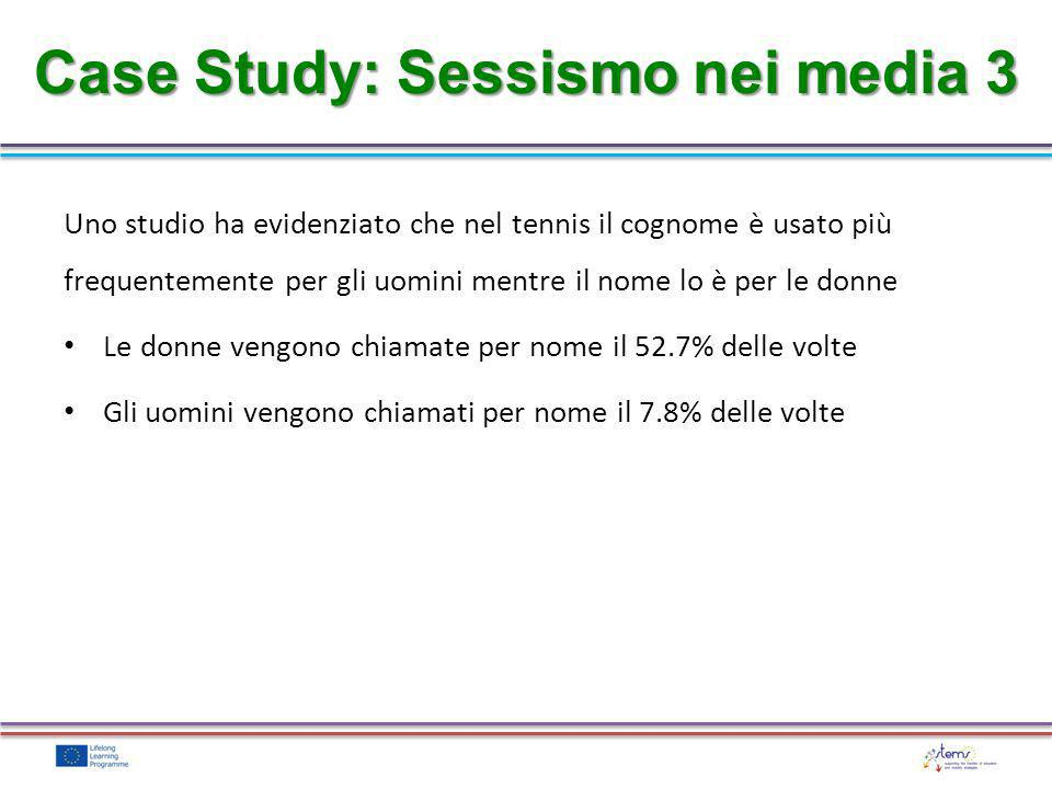 Case Study: Sessismo nei media 3