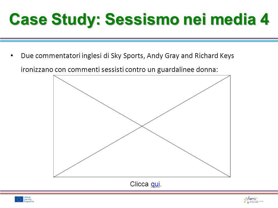 Case Study: Sessismo nei media 4