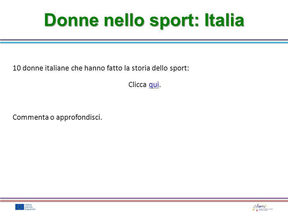 Donne nello sport: Italia