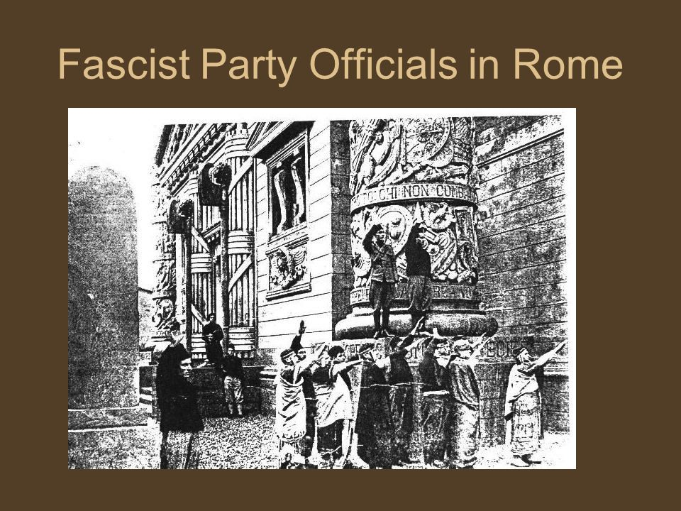 Fascist Party Officials in Rome