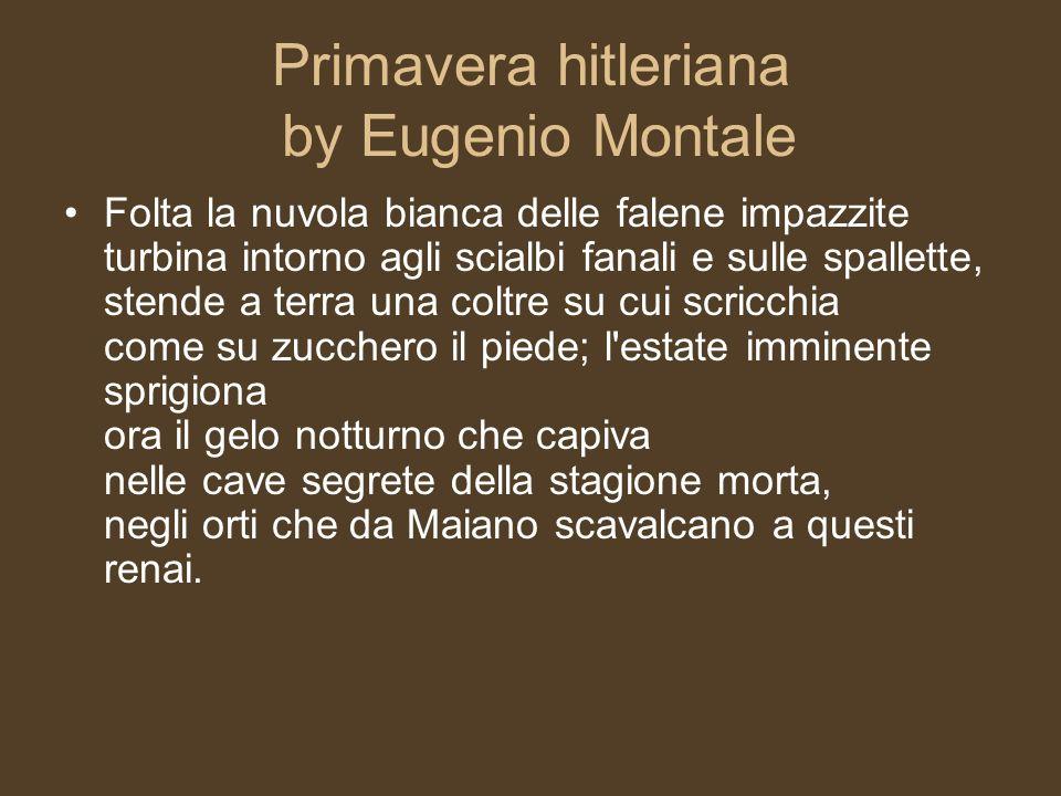 Primavera hitleriana by Eugenio Montale