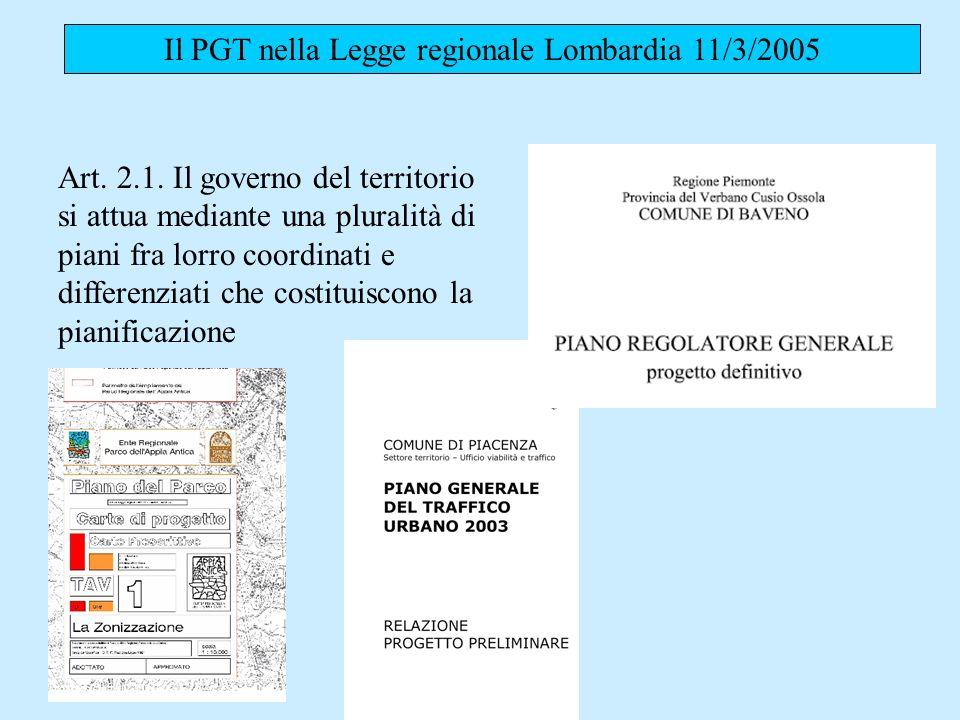 Il PGT nella Legge regionale Lombardia 11/3/2005