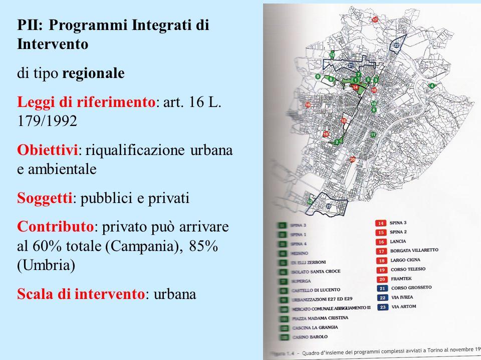 PII: Programmi Integrati di Intervento