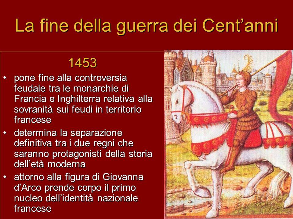 La fine della guerra dei Cent'anni