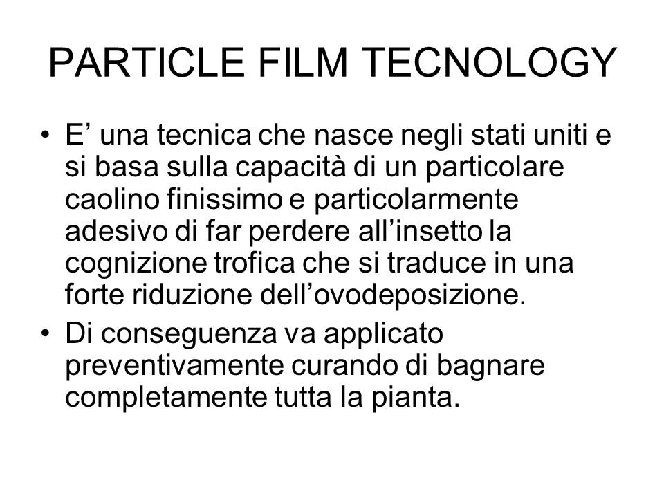 PARTICLE FILM TECNOLOGY