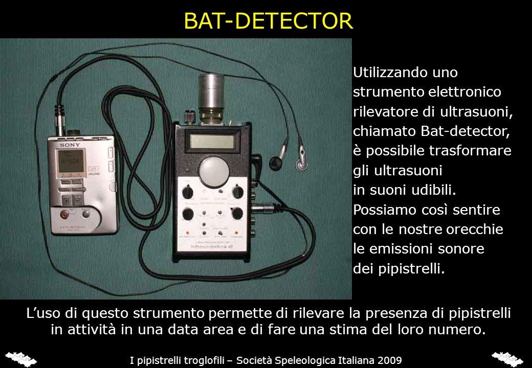 BAT-DETECTOR Mediante la registrazione e la successiva analisi dei suoni al computer, con appositi software è possibile anche identificare.