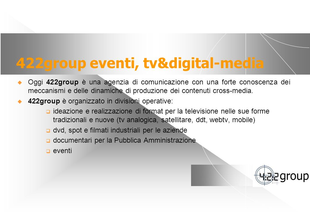 422group eventi, tv&digital-media
