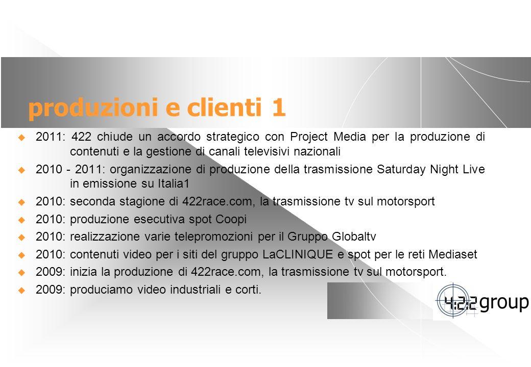 produzioni e clienti 1
