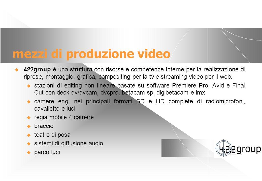 mezzi di produzione video