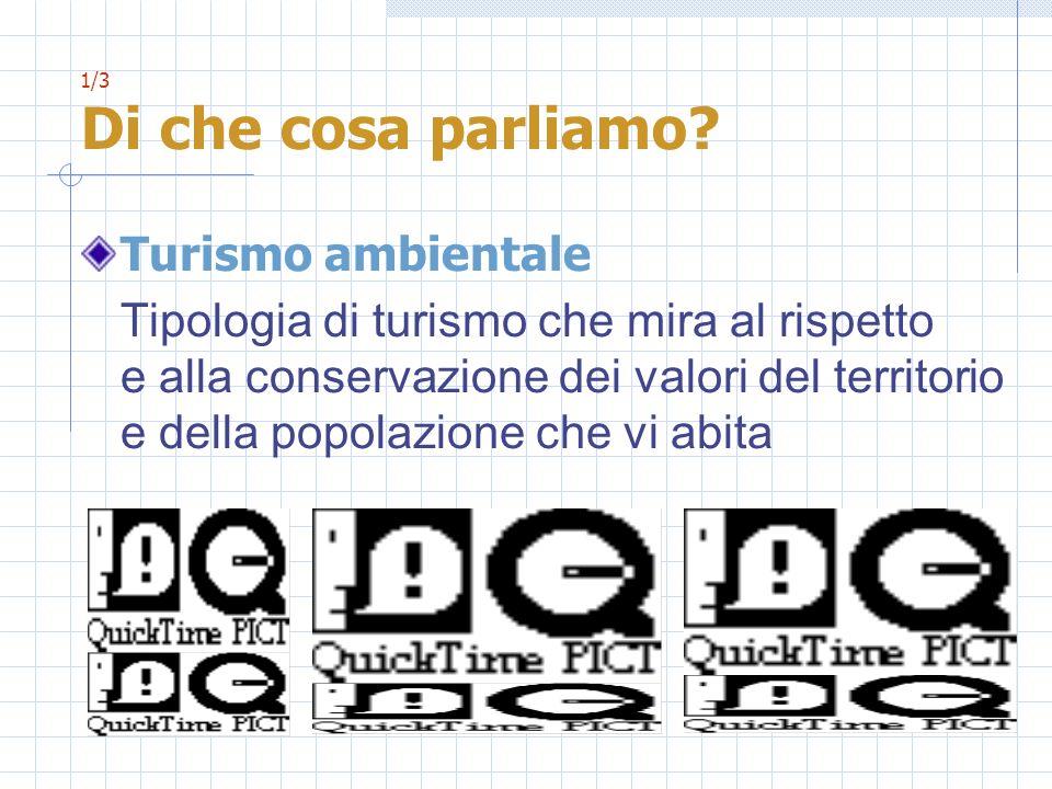 1/3 Di che cosa parliamo Turismo ambientale.