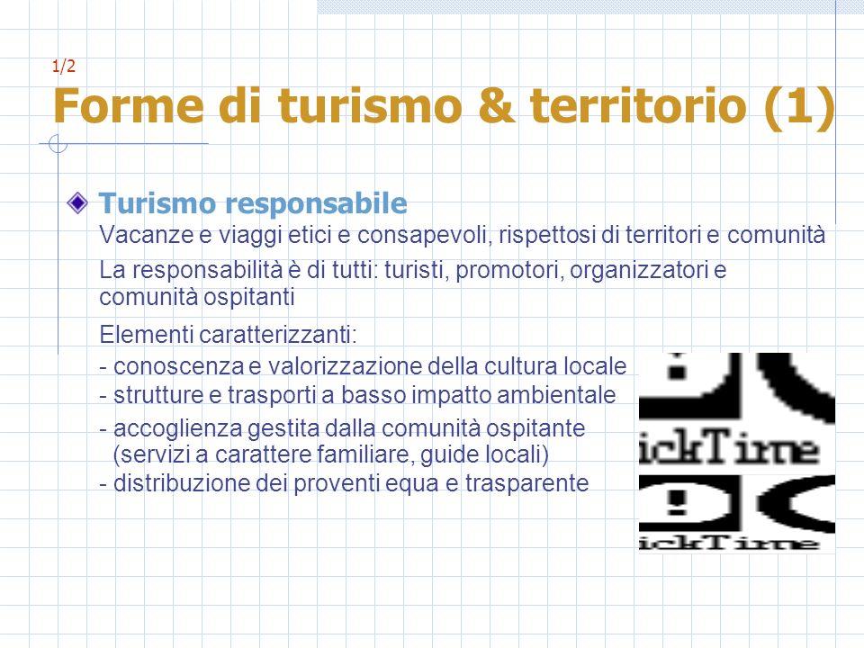 1/2 Forme di turismo & territorio (1)
