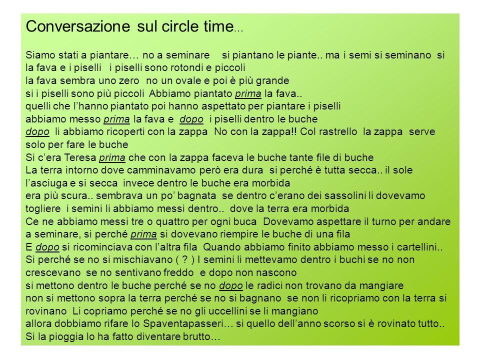 Conversazione sul circle time…