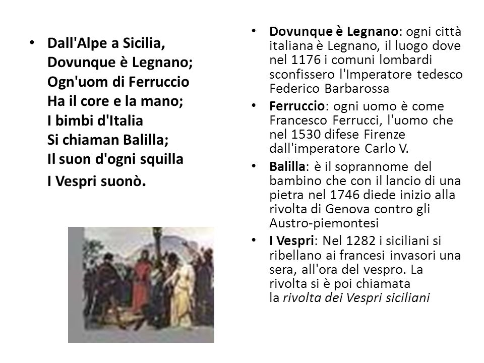 Dovunque è Legnano: ogni città italiana è Legnano, il luogo dove nel 1176 i comuni lombardi sconfissero l Imperatore tedesco Federico Barbarossa