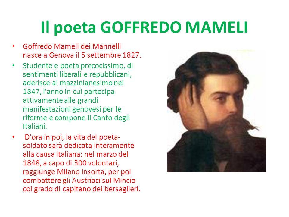 Il poeta GOFFREDO MAMELI