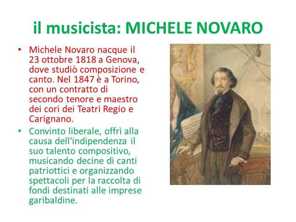 il musicista: MICHELE NOVARO