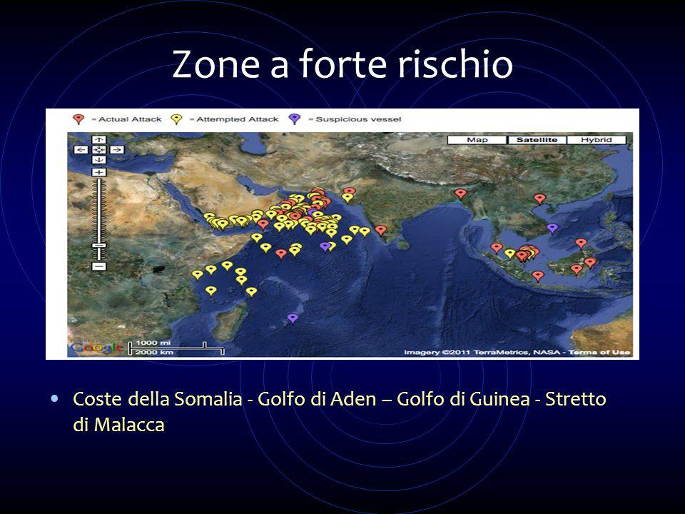 Zone a forte rischio Coste della Somalia - Golfo di Aden – Golfo di Guinea - Stretto di Malacca