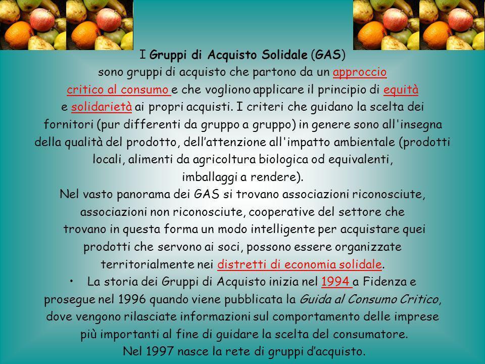 I Gruppi di Acquisto Solidale (GAS)