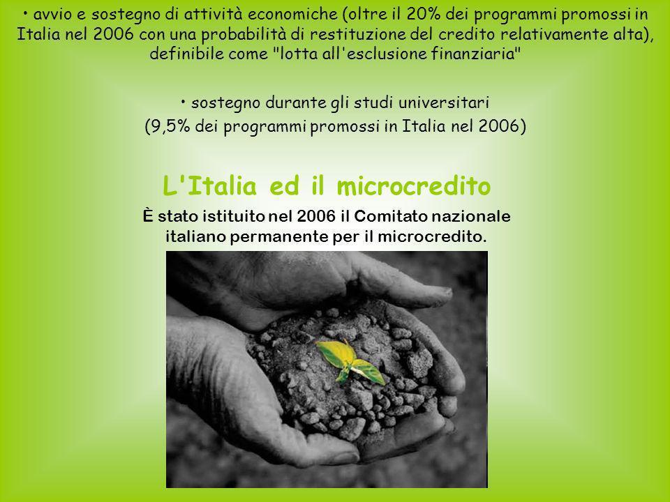 L Italia ed il microcredito