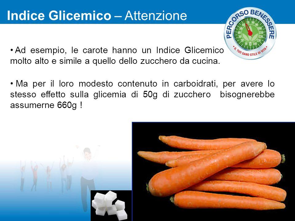Indice Glicemico – Attenzione