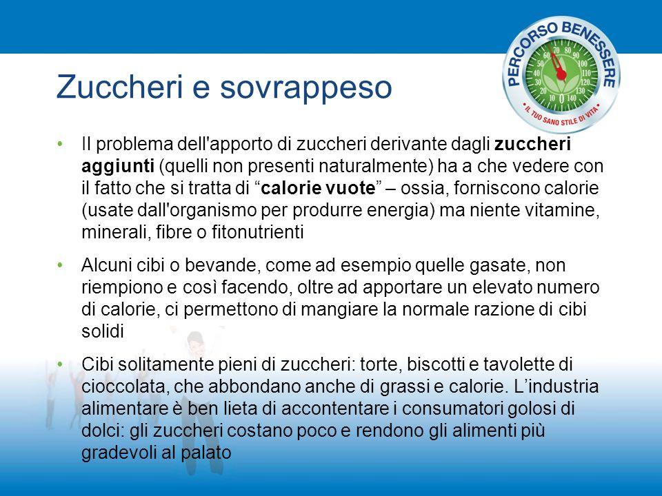 Zuccheri e sovrappeso