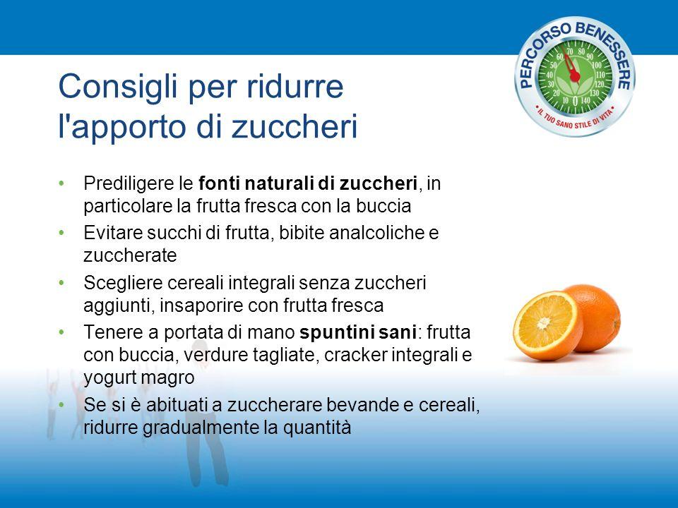 Consigli per ridurre l apporto di zuccheri