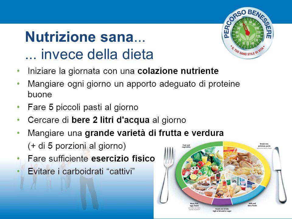 Nutrizione sana... ... invece della dieta