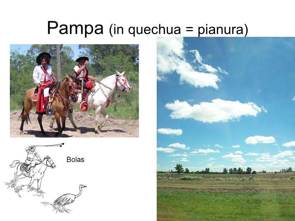 Pampa (in quechua = pianura)