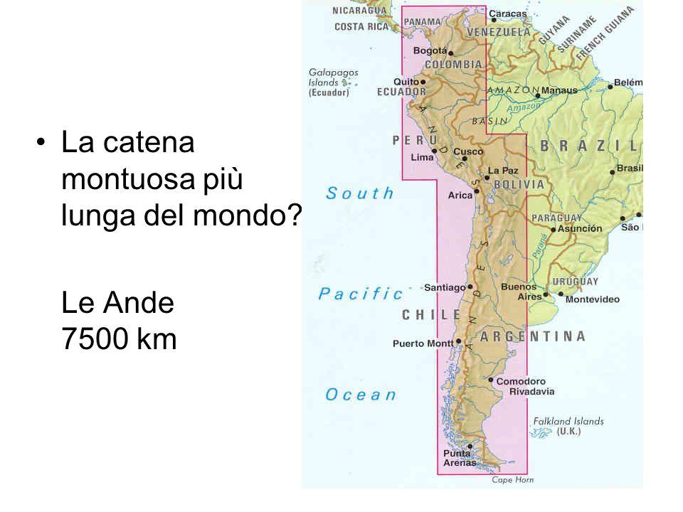 La catena montuosa più lunga del mondo
