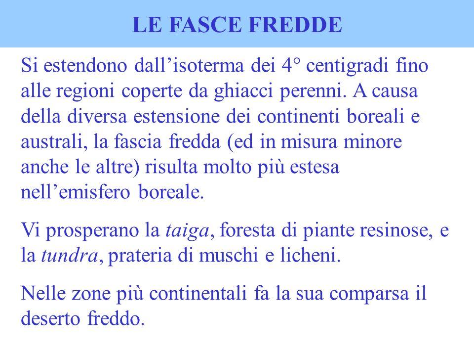 LE FASCE FREDDE
