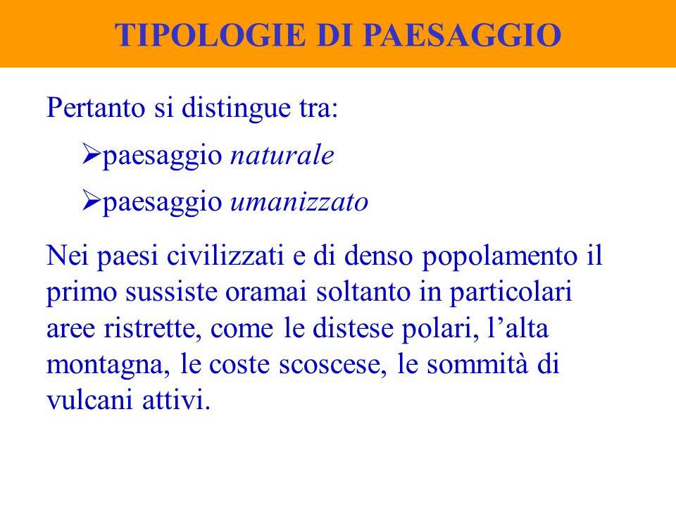 TIPOLOGIE DI PAESAGGIO