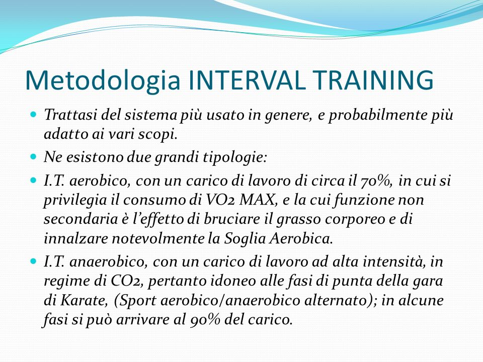 Metodologia INTERVAL TRAINING