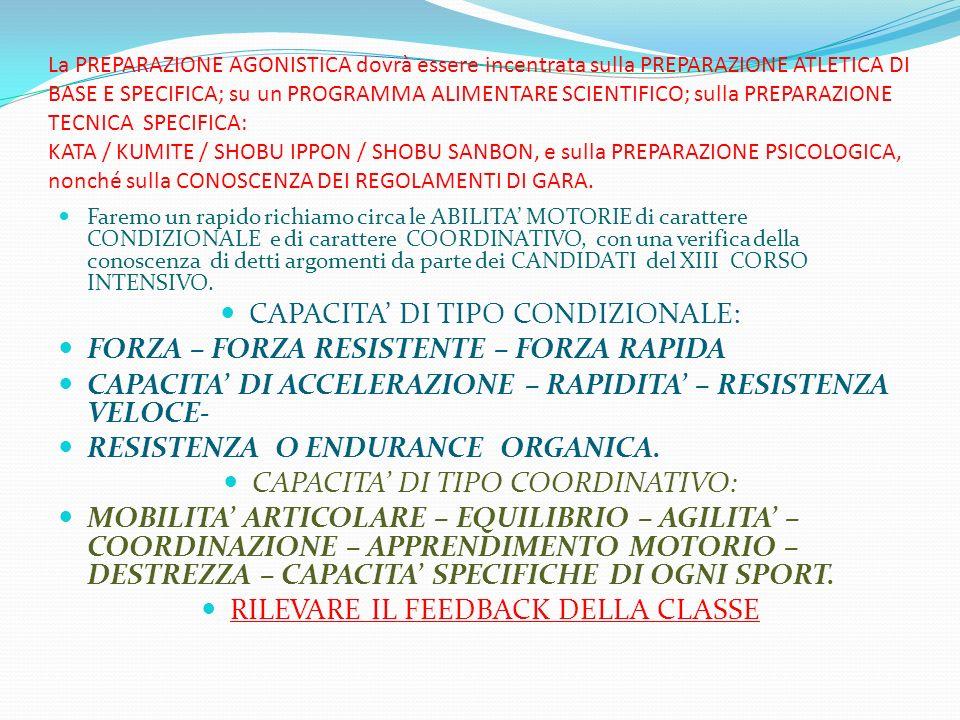 CAPACITA' DI TIPO CONDIZIONALE: