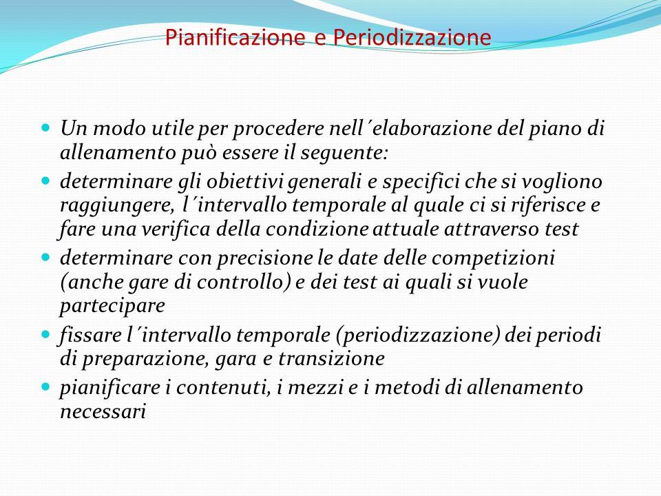 Pianificazione e Periodizzazione