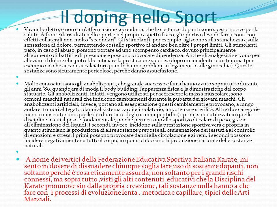 Il doping nello Sport