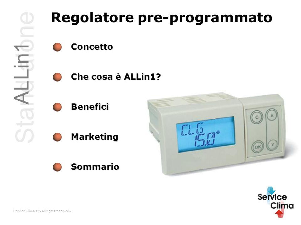 Stand alone ALLin1 Regolatore pre-programmato Concetto